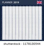 uk planner blank for 2019.... | Shutterstock .eps vector #1178130544