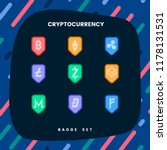 set of various cryptocurrencies ... | Shutterstock .eps vector #1178131531
