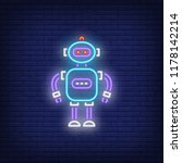 toy robot neon sign. childhood  ... | Shutterstock .eps vector #1178142214