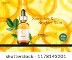vitamin c essence ads with... | Shutterstock .eps vector #1178143201
