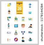 programming icon set. robot... | Shutterstock .eps vector #1178144284