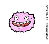 laughing pink furry monster | Shutterstock .eps vector #117815629