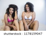 two young afro girls having fun ... | Shutterstock . vector #1178159047