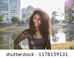 portrait of smiling young black ... | Shutterstock . vector #1178159131