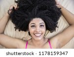 portrait of smiling young black ... | Shutterstock . vector #1178159347