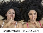 two young afro girls having fun ... | Shutterstock . vector #1178159371