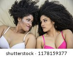 two young afro girls having fun ... | Shutterstock . vector #1178159377