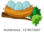 Egg on the nest illustration