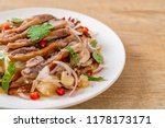 pamelo spicy salad with roasted ... | Shutterstock . vector #1178173171