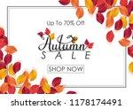 autumn sale background   Shutterstock .eps vector #1178174491