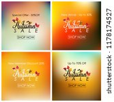 collection of autumn sale banner   Shutterstock .eps vector #1178174527