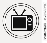 television vector icon | Shutterstock .eps vector #1178178241