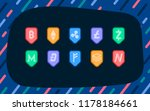 set of various cryptocurrencies ... | Shutterstock .eps vector #1178184661