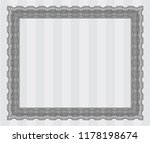 grey diploma template or... | Shutterstock .eps vector #1178198674