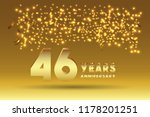 46th anniversary gold numbers.... | Shutterstock .eps vector #1178201251