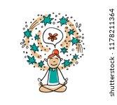 mental health symbol  ... | Shutterstock .eps vector #1178211364