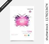 book cover design annual... | Shutterstock .eps vector #1178213674