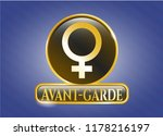 gold shiny badge with female... | Shutterstock .eps vector #1178216197