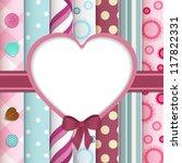 scrap book background with... | Shutterstock .eps vector #117822331
