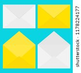 email icon. white and yellow... | Shutterstock .eps vector #1178224177