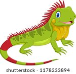 cute iguana cartoon | Shutterstock .eps vector #1178233894
