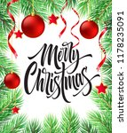 merry christmas hand drawn... | Shutterstock .eps vector #1178235091