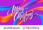 merry christmas hand drawn... | Shutterstock .eps vector #1178235421