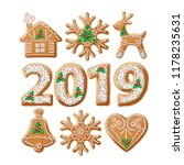 christmas gingerbread realistic ... | Shutterstock .eps vector #1178235631
