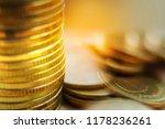 coin stacks   macro | Shutterstock . vector #1178236261