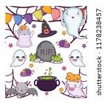 set of halloween cartoons   Shutterstock .eps vector #1178238457