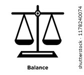 balance icon vector isolated on ... | Shutterstock .eps vector #1178240074