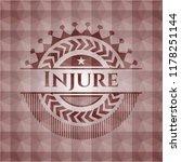 injure red seamless emblem or... | Shutterstock .eps vector #1178251144
