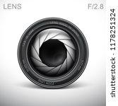 set camera lens object glass... | Shutterstock .eps vector #1178251324