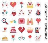 vector icons colored vector... | Shutterstock .eps vector #1178253154