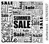 summer sale word cloud collage  ... | Shutterstock .eps vector #1178255527