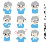 grandfather face expression ... | Shutterstock .eps vector #1178258074