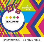 geometric colorful background... | Shutterstock .eps vector #1178277811