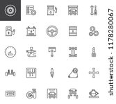 car service outline icons set.... | Shutterstock .eps vector #1178280067
