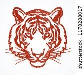tiger head illustration | Shutterstock .eps vector #1178288017