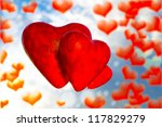 three red hearts | Shutterstock . vector #117829279