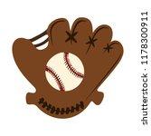 baseball glove with ball... | Shutterstock .eps vector #1178300911