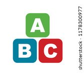 abc blocks flat icon. alphabet... | Shutterstock .eps vector #1178300977