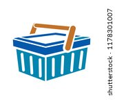 vector shopping basket... | Shutterstock .eps vector #1178301007