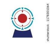 vector target illustration icon | Shutterstock .eps vector #1178301064