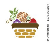 fresh fruit basket illustration ... | Shutterstock .eps vector #1178301094