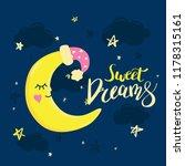 vector template night cards... | Shutterstock .eps vector #1178315161
