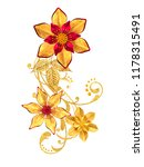 3d rendering. golden stylized...   Shutterstock . vector #1178315491