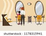 interior of a hairdressing...   Shutterstock . vector #1178315941