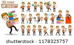 school teacher character set in ... | Shutterstock .eps vector #1178325757