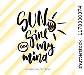 sun shine on my mind   modern... | Shutterstock .eps vector #1178330374
